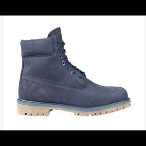 Navy Blue Timberland Boots